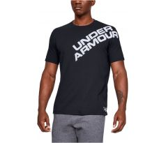 Pánske tričko Under Armour - Wordmark Shoulder Short Sleeve S ČIERNA